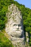 King Decebalus Rock Sculpture On Danube Shores Royalty Free Stock Images