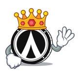 King Dentacoin mascot cartoon style. Vector illustration Royalty Free Stock Images