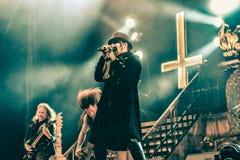 King Diamond live 2016. Kim Bendix Petersen (born 14 June 1956, Copenhagen, Denmark),better known by his stage name King Diamond, is a Danish heavy metal Stock Images