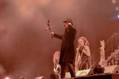 King Diamond live 2016. Kim Bendix Petersen (born 14 June 1956, Copenhagen, Denmark),better known by his stage name King Diamond, is a Danish heavy metal Royalty Free Stock Images