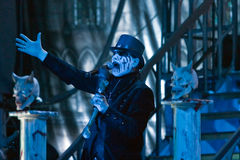 King Diamond on Metalfest 2013. Show of King Diamond  metal band on Metalfest 2013 Royalty Free Stock Photography