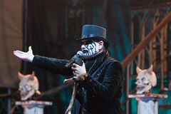 King Diamond on Metalfest 2013. Show of King Diamond  metal band on Metalfest 2013 Stock Image