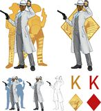 King of diamonds afroamerican police chief and Stock Image