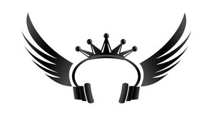 King DJ logo Stock Image