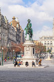 King Dom Pedro IV Statue Stock Photography