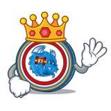 King Dragonchain coin mascot cartoon. Vector illustration Royalty Free Stock Image