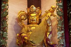 King of the east and God of music in Four Heavenly Kings are fou. R Buddhist gods at Chinese temple at Chinese temple or Wat Borom Raja Kanjanapisek Wat Leng Nei Stock Images