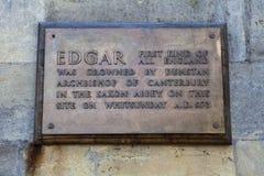 King Edgar Plaque in Bath Stock Photo