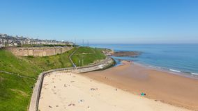 King Edward`s Bay in Tynemouth. The beach at King Edward`s Bay, in Tynemouth, Newcastle Upon Town, England Stock Photography