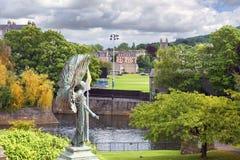 King Edward VII Memorial Angel of Peace in Parade Gardens, Bath, England Royalty Free Stock Photos