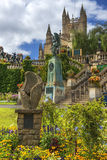 King Edward VII Memorial in Bath, Somerset, England. BATH, ENGLAND - JULY 28: statue of angel from King Edward VII Memorial in Parade Gardens on July 28, 2015 in Royalty Free Stock Photography