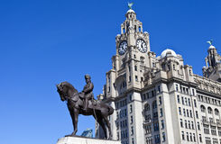 King Edward VII Monument in Liverpool Royalty Free Stock Image