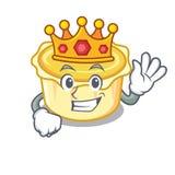 King egg tart mascot cartoon. Vector illustration Royalty Free Stock Photography