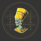The king of egypt royalty free illustration