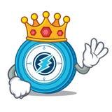 King Electroneum coin mascot cartoon. Vector illustration Royalty Free Stock Photo