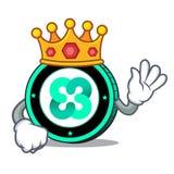 King Ethos coin mascot cartoon. Vector illustration Stock Photos