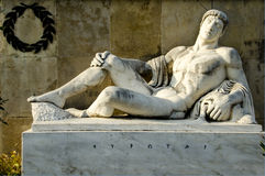 King Eurotas, from the monument of Leonidas, Thermopylae. Stock Photography