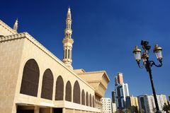King Faisal mosque in Sharjah Royalty Free Stock Image