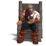 King of the fantasy dwarves Royalty Free Stock Photos