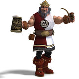 King of the fantasy dwarves Royalty Free Stock Images