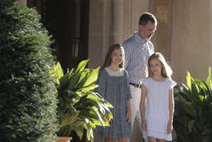 King felipe and Princesses Royalty Free Stock Images