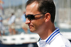 King Felipe at yacht club Stock Photos