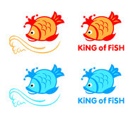 King of fish symbol Royalty Free Stock Image