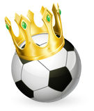 King of football soccer royalty free illustration
