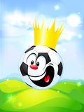 King of football - soccer ball Royalty Free Stock Photo