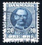 King Frederik VIII. DENMARK - CIRCA 1907: stamp printed by Denmark, shows King Frederik VIII, circa 1907 Royalty Free Stock Photography