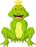 King of frog cartoon Stock Image