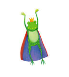 King frog jumping Royalty Free Stock Photo