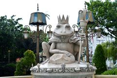 King Frog Statue Royalty Free Stock Images