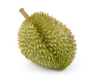 King of fruits, durian isolated on white background Stock Photos