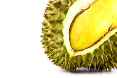 King of fruits, durian isolated on white background, durian is a smelly fruits. Royalty Free Stock Image