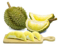 King of fruits, durian isolated on white background Royalty Free Stock Photo