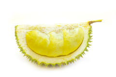 King of fruits, durian long stalk, on white background Stock Photo