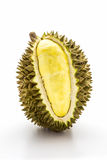 King of fruits, durian on white backgroud. Royalty Free Stock Photo