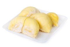 King of fruits, durian on white background Royalty Free Stock Images