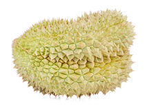 King of fruits, durian on white background Royalty Free Stock Image