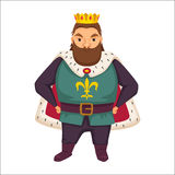 King. Funny monarch. Stock Images