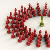 King gathers his pawns Stock Images