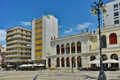 King George I Square in Patras, Peloponnese. Western Greece royalty free stock photography
