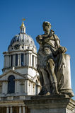 King George II Statue, Greenwich. Historic statue of King George II (1683 - 1760) at the old Royal Naval College in Greenwich, London.  Sculpted by Michael Stock Photography