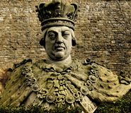 King George III statue. Statue of King George III of England in grounds of Lincoln Castle Stock Images