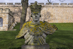 King George III Statue at Lincoln Castle Royalty Free Stock Photo