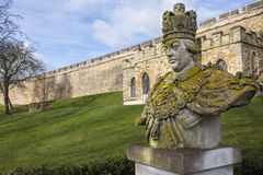 King George III Statue at Lincoln Castle Stock Photography