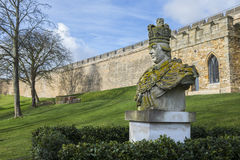King George III Statue at Lincoln Castle Royalty Free Stock Image