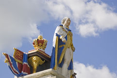 King George III statue, Weymouth. Monument to King George III , Esplanade, Weymouth.  Erected in 1810 to mark the Golden Jubilee of the King who popularised the Royalty Free Stock Photos