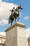 King George IV Monument in Trafalgar Square, London Stock Images